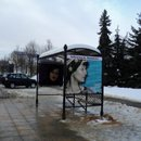 Оформление остановки у библиотеки им. Маяковского