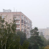 Туман в Сарове, конец августа 2012 г.