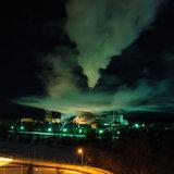 ТЭЦ зимней ночью