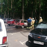 ВАЗ-2104 сгорела на стоянке у Лыжной базы