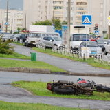 ДТП с мотоциклистом на Курчатова