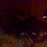 ВАЗ-2106 на Силкина после встречи со столбом