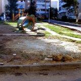 Бетон у детской площадки